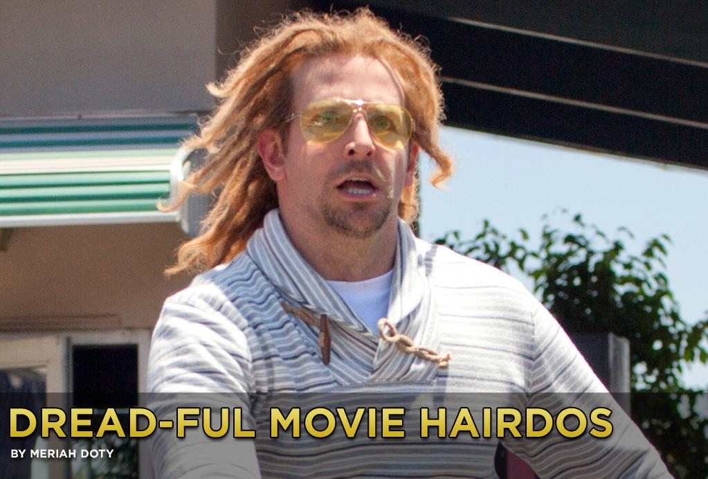 "<b>Anti-Style</b><br><br>For some, dreadlocks, braids and cornrows never really go out of style. But when it comes to actors who have worn these hairdos in film, the 'do is usually done to serve as a visual cue about the character they are playing. <br><br>Bradley Cooper sports the style in the action-packed comedy ""<a href=""http://movies.yahoo.com/movie/outrun/"">Hit & Run</a>,"" in theaters now. He portrays a bank robber who has done time -- and can't stop holding it over his partner-in-crime's head (Dax Shepard). The dreads were Cooper's idea, <a href=""http://blog.seattlepi.com/peoplescritic/2012/08/19/qa-with-dax-shepard-and-kristen-bell/"">Shepard says</a>: ""He knows some guy in Venice [California]. Up until recently he lived in Venice for a long time. There's a very eclectic cast of characters parading around Venice and this one guy in particular that he knows. Bradley said, 'There's this dude I know and he wears these glasses and these track suits and he has dreads. I think this is who he is.'"" <br><br>Click to see more dread-ful movie hairdos from over the years."