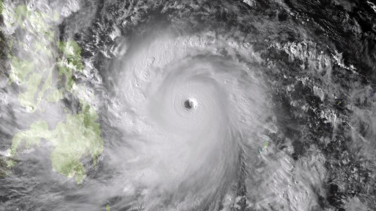 This NOAA image shows Super Typhoon Haiyan taken by the Japan Meteorological Agency's MTSAT at 0630Z on November 7, 2013