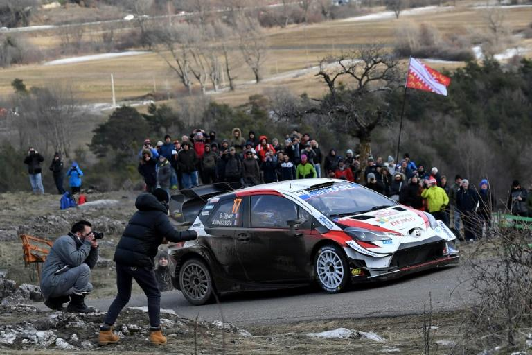 Front runner: Sebastien Ogier takes the lead on the Monte Carlo Rally on Friday