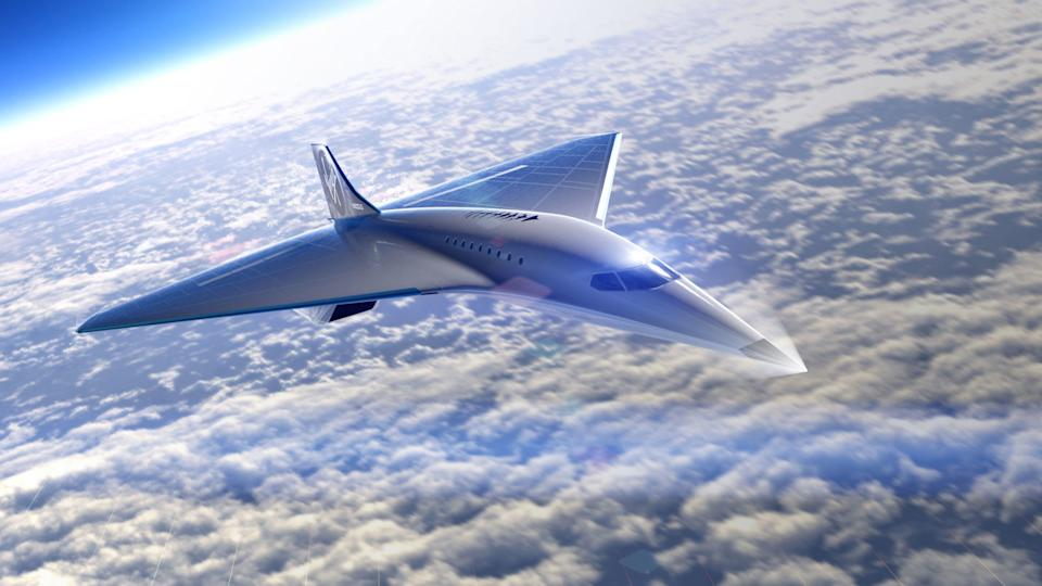 The Mach 3 aircraft design. Graphic: Virgin Galactic