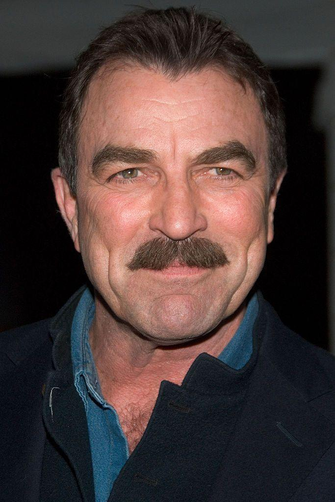 <p>Selleck's mustache works in a way very few guy's can. It's so much a part of his countenance that when you take it away ....</p>