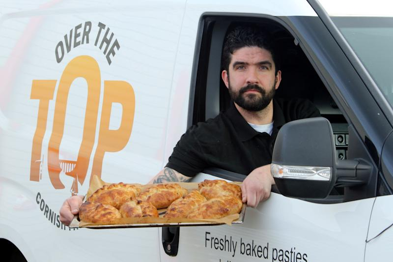 Scot Weller, owner of Over the Top Cornish Pasties'(Picture: SWNS)