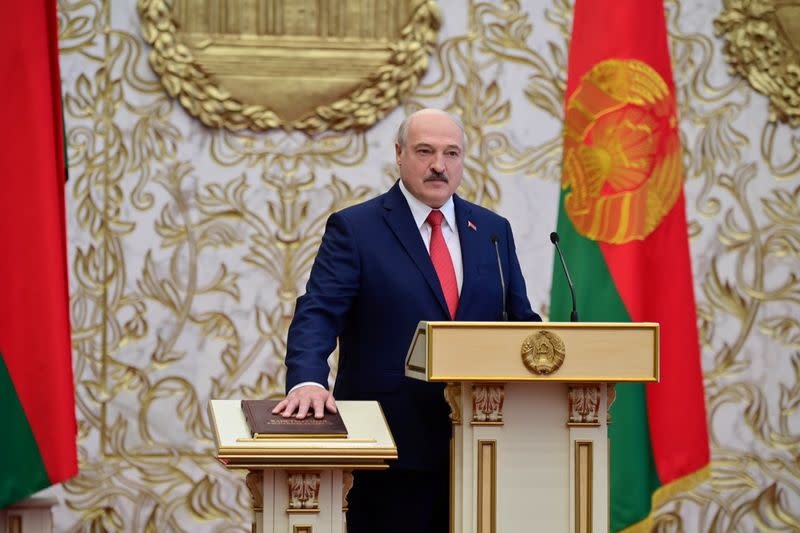 EU hits 40 Belarus officials with sanctions, spares Lukashenko