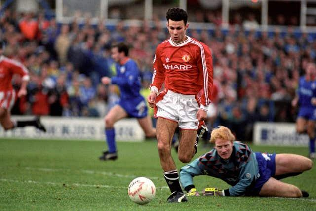 Ryan Giggs started his Manchester United career in the First Division.