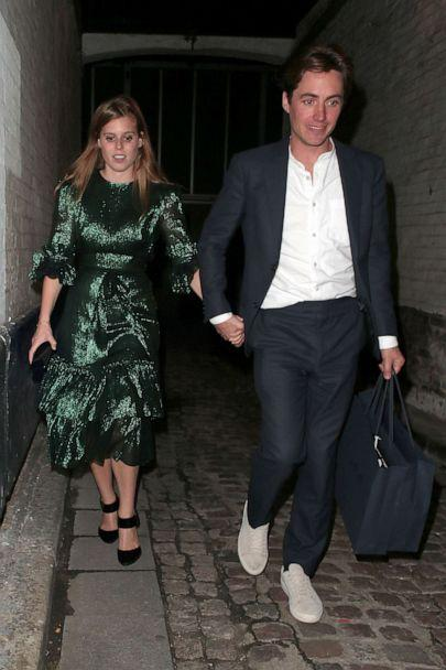 PHOTO: Princess Beatrice of York and Edoardo Mapelli Mozzi attend the Dior Sessions book launch after party, Oct. 1, 2019, in London. (Ricky Vigil M/GC Images/Getty Images, FILE)