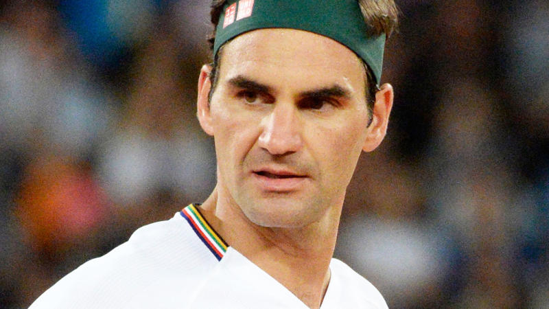 Roger Federer, pictured here in action against Rafael Nadal at The Match in Africa.