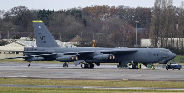 B-52 bomber at RAF Fairford