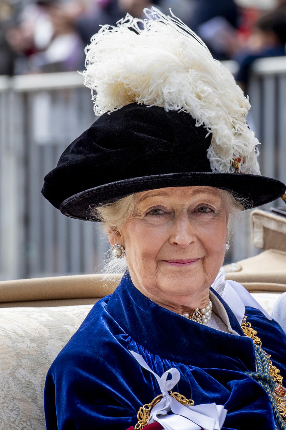 WINDSOR, ENGLAND - JUNE 17: Princess Alexandra of the United Kingdom at St George's Chapel on June 17, 2019 in Windsor, England. (Photo by Patrick van Katwijk/Getty Images)