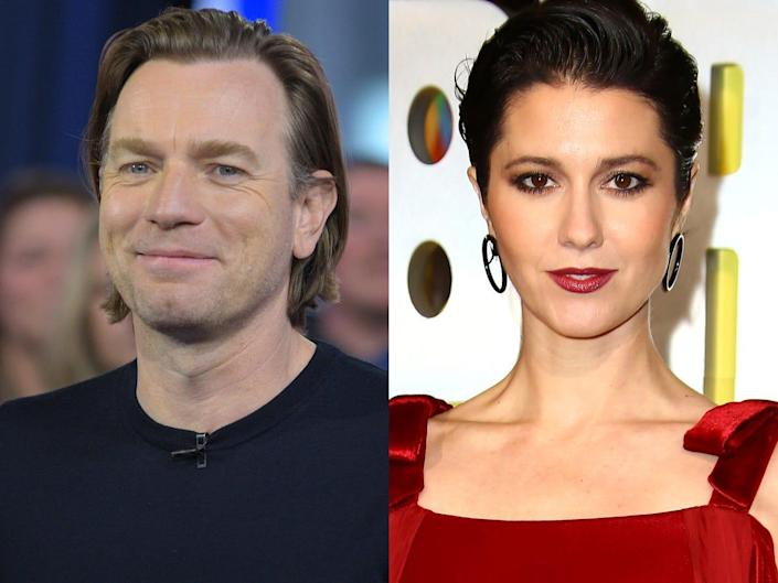 """On the left: Ewan McGregor appearing on """"Good Morning America"""" in February 2020. On the right: Mary Elizabeth Winsteadl at the world premiere of """"Birds of Prey"""" in London in January 2020."""