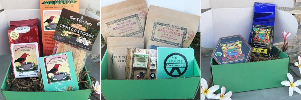 """<p><strong>Hawaii Coffee Box</strong></p><p>hawaiicoffeebox.com</p><p><strong>$230.00</strong></p><p><a href=""""https://www.hawaiicoffeebox.com/subscribe/2184840189_hawaii-coffee-box-monthly-membership/2184840188_Monthly"""" rel=""""nofollow noopener"""" target=""""_blank"""" data-ylk=""""slk:Shop Now"""" class=""""link rapid-noclick-resp"""">Shop Now</a></p><p>Many of the subscription boxes on the market source single-origin coffee beans from Latin America, South America, and nations in Africa. But few include options from the Pacific Southwest, where Hawaii has earned a reputation for some of the best coffee on Earth (have you heard of Kona beans yet?). If you're <a href=""""https://www.goodhousekeeping.com/holidays/gift-ideas/g29250426/gifts-for-coffee-lovers/"""" rel=""""nofollow noopener"""" target=""""_blank"""" data-ylk=""""slk:hunting for a unique gift for the coffee obsessed"""" class=""""link rapid-noclick-resp"""">hunting for a unique gift for the coffee obsessed</a> in your life, this subscription box can be bought on a monthly basis in pre-paid terms (like 3 months for $115) and is guaranteed to hold the freshest grounds directly from Hawaii. Each monthly box has new coffee from a local farm or roaster, and will also contain coffee-adjacent goodies, like sugarcane. </p>"""