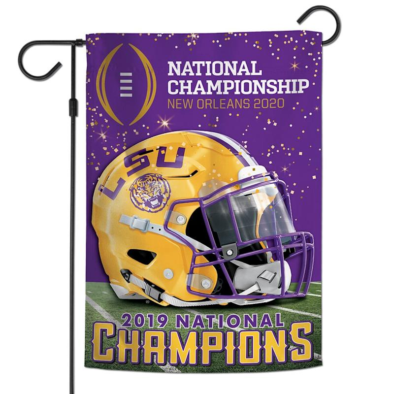 LSU College Football Playoff 2019 National Champions 2-Sided Garden Flag