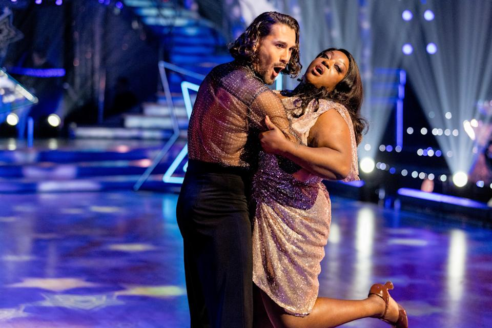 Programme Name: Strictly Come Dancing 2021 - TX: 18/09/2021 - Episode: Strictly Come Dancing - Launch Show (No. n/a) - Picture Shows:  Graziano Di Prima, Judi Love - (C) BBC - Photographer: Guy Levy