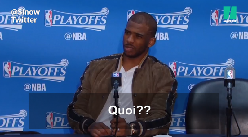 La star du basket, Chris Paul, s'énerve face à la question d'un journaliste