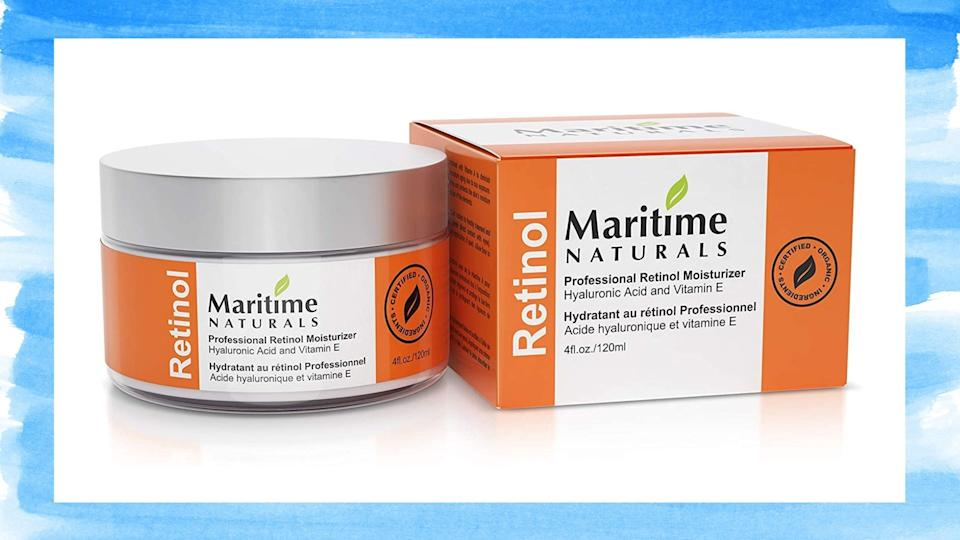 The Maritime Naturals Premium Retinol Moisturize is on sale for just $27 on Amazon (originally $39).