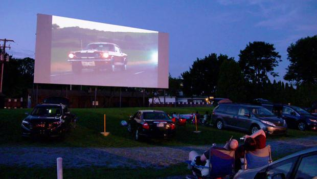 The scene at Shankweiler's Drive-in Theatre in Orefield, Pa. / Credit: CBS News
