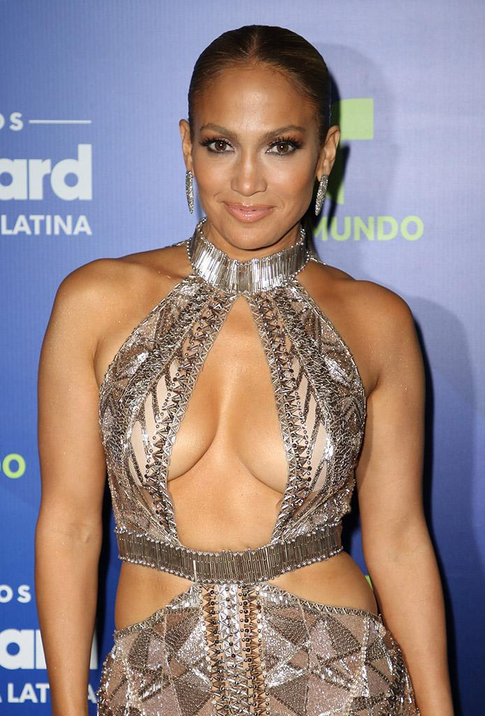 Jennifer Lopez poses in the press room during the Billboard Latin Music Awards at Watsco Center on April 27, 2017 in Coral Gables, Florida.
