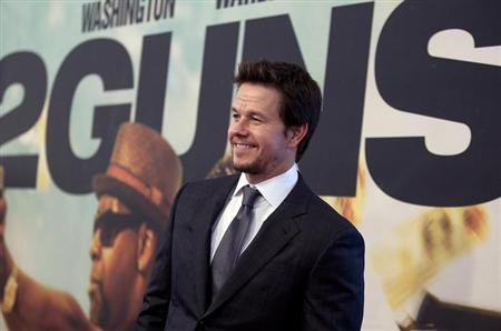 "Actor Mark Wahlberg arrives for the premiere of the movie ""2 Guns"" in New York"