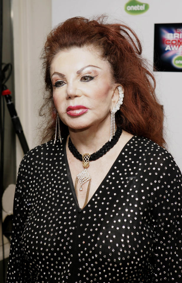 LONDON - DECEMBER 14: Jackie Stallone arrives at the British Comedy Awards 2005 at London Television Studios on December 14, 2005 in London, England. (Photo by Dave Hogan/Getty Images)