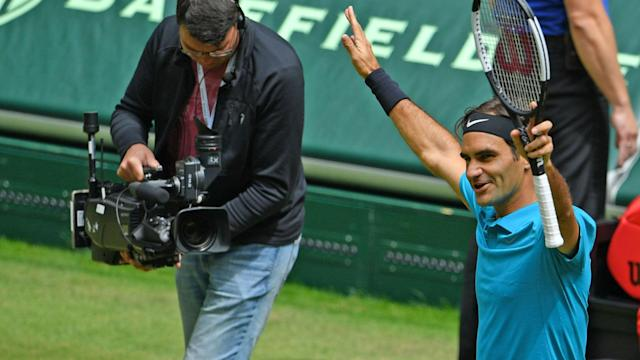 Despite a couple of shaky showings en route to the Gerry Weber Open final, Roger Federer is happy with how he is progressing on grass.