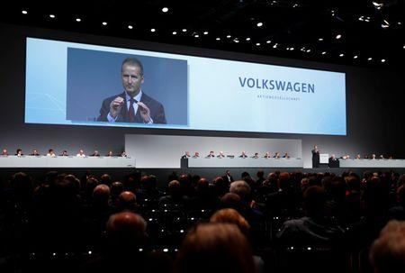Diess Volkswagen's new CEO attends the Volkswagen Group's annual general meeting in Berlin