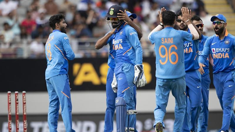 India have restricted New Zealand to 8-273 after the hosts were sent into bat in the second ODI