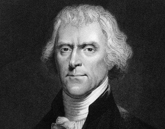 Thomas Jefferson (1743 - 1826), the 3rd President of the United States (Getty Images)