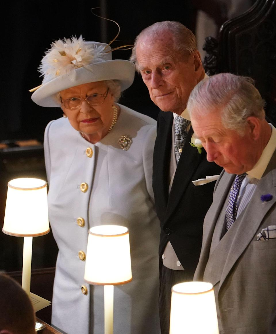 <p>When Queen Elizabeth put on her glasses to get a better look at the drama between Philip and Fergie. </p>