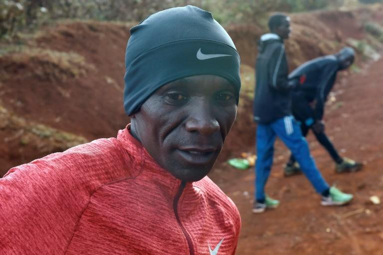Kenya's Eliud Kipchoge is one of three elite runners attempting to break through the two-hour barrier for running a marathon