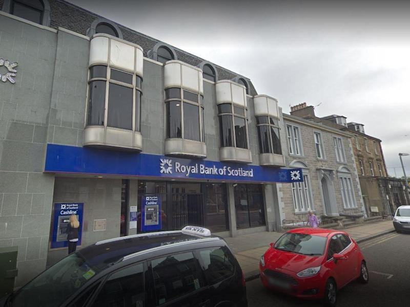 Davies raided the RBS branch armed with a meat cleaver: Google Street View
