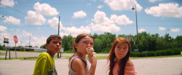 The young cast of <em>The Florida Project</em>: Christopher Rivera, Prince, and Valeria Cotto. (Photo: A24/courtesy Everett Collection)