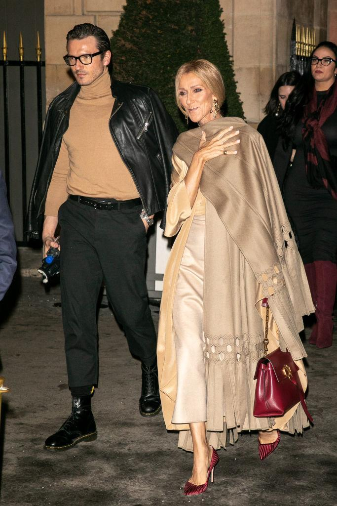 Singer Celine Dion and Pepe Munoz are seen on January 23, 2019 in Paris, France. (Photo by Marc Piasecki/Getty Images)