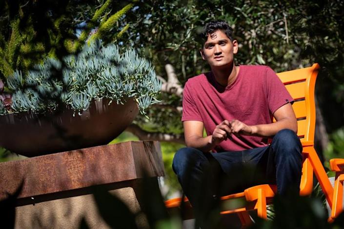 "Janak Bhakta, 17, from Tustin, had hoped to travel internationally for his gap year, but now he's joining a conservation program this year instead. <span class=""copyright"">(Jason Armond / Los Angeles Times)</span>"