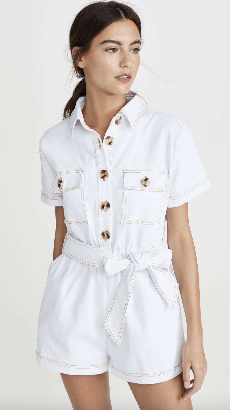 <p>We're dreaming of a warm getaway now, thanks to this <span>Charlie Holiday Tropez Romper</span> ($109).</p>