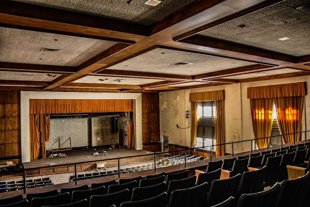 <p>Another view from the balcony of the school auditorium. (Photo: Leland Kent/Caters News) </p>