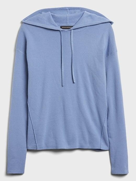 <p>This <span>Banana Republic Sweater Hoodie</span> ($110) is comfortable enough to be an everyday, but chic enough to wear around the Thanksgiving table!</p>