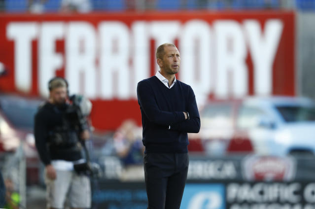 Columbus Crew head coach Gregg Berhalter is a perhaps the most likely candidate to take over the USMNT. (AP)