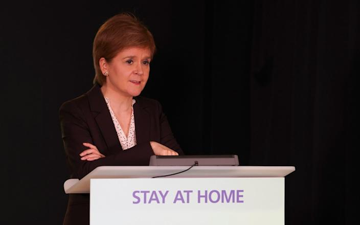 Nicola Sturgeon addressed the controversy at her daily briefing - Unpix/Universal News And Sport