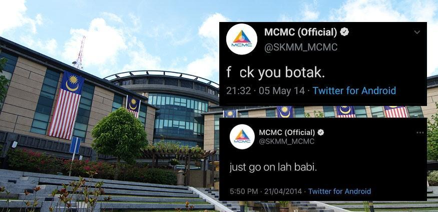 Screenshots of MCMC's old tweet from 2014 against the MCMC headquarters building in Cyberjaya. Photo: Coconuts
