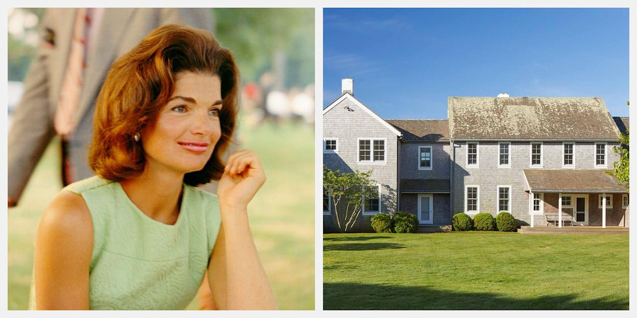 """<p>The stunning Martha's Vineyard estate that Jackie Kennedy Onassis called home is currently for sale for $65 million, and the late first lady's daughter, Caroline Kennedy, is overseeing the listing. </p><p>Jackie purchased the 340-acre oceanfront property, known as <a href=""""https://www.christiesrealestate.com/sales/detail/170-l-239-1906111036074454/red-gate-farm-the-jacqueline-kennedy-onassis-marthas-vineyard-estate-aquinnah-ma-02535"""" target=""""_blank"""">Red Gate Farm</a>, in 1979. The main residence—a 6,456-square-foot cedar-shingled-style property—includes five en-suite bedrooms, and two powder rooms, as well as a chef's kitchen. The two-story guest house features four bedrooms and three bathrooms. Plus, there's a pool and tennis court. </p><p>""""Forty years ago, my mother fell in love with Martha's Vineyard,"""" Caroline said, when asked about her mother's home. </p><p>""""When she found Red Gate Farm, it was a perfect expression of her romantic and adventurous spirit. The dunes and ponds and rolling hills of Aquinnah gave her the chance to create a world where she could be so close to nature, close to her family and friends, and, most importantly, close to her beloved books. She even built a fairy treehouse for her grandchildren. Those grandchildren are grown so now it is time for us to follow my mother's example and create our own worlds. We hope that a new family will treasure this place as we have for three generations.""""</p><p>Take a tour of the breathtaking home below.</p>"""