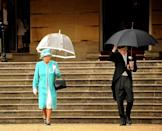 <p>Attending the first summer garden party of the season in typical British weather.</p>