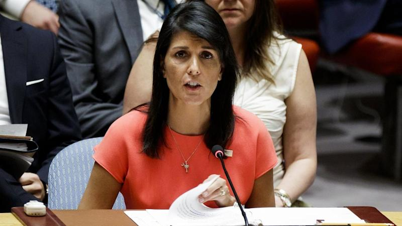 UN Ambassador Nikki Haley told staff in an email that everyone must condemn hate.