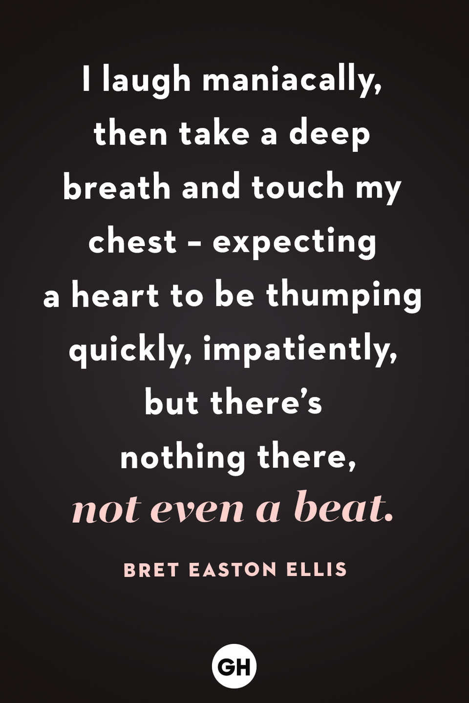 """<p>""""I laugh maniacally, then take a deep breath and touch my chest – expecting a heart to be thumping quickly, impatiently, but there's nothing there, not even a beat.""""</p>"""