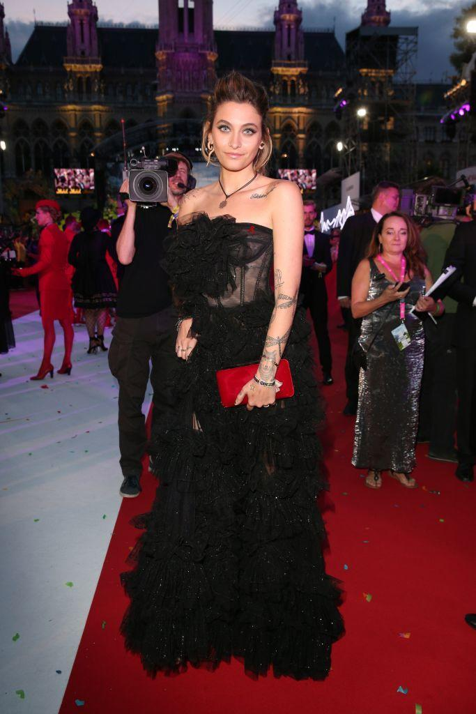 Jackson arriving at the 2018 Life Ball in Vienna. (Photo: Getty Images)