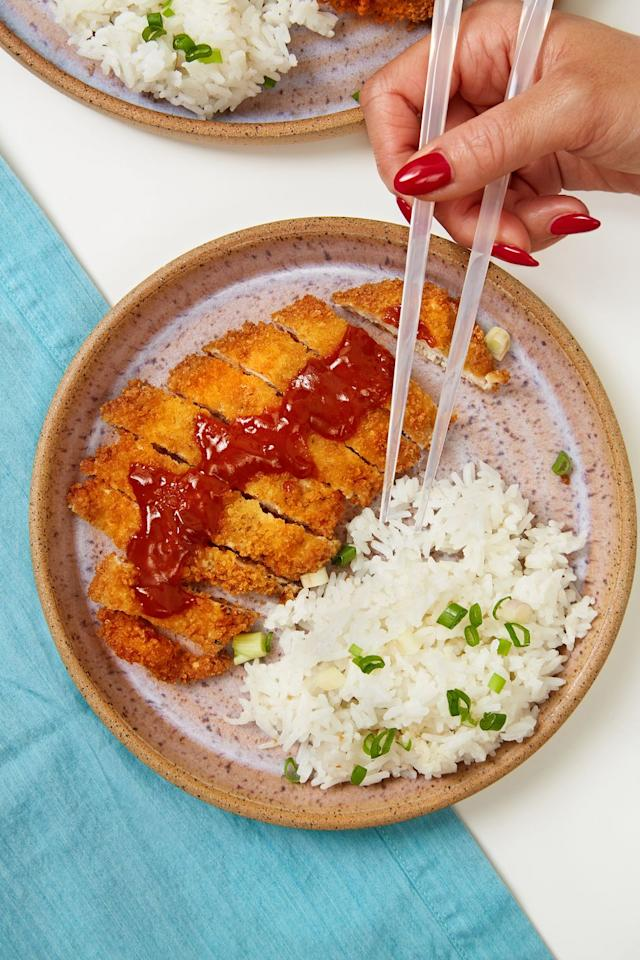 <p>It's hard not to love a fried chicken cutlet, but this katsu sauce takes this to the next level.</p><p>Get the recipe from Delish. </p>