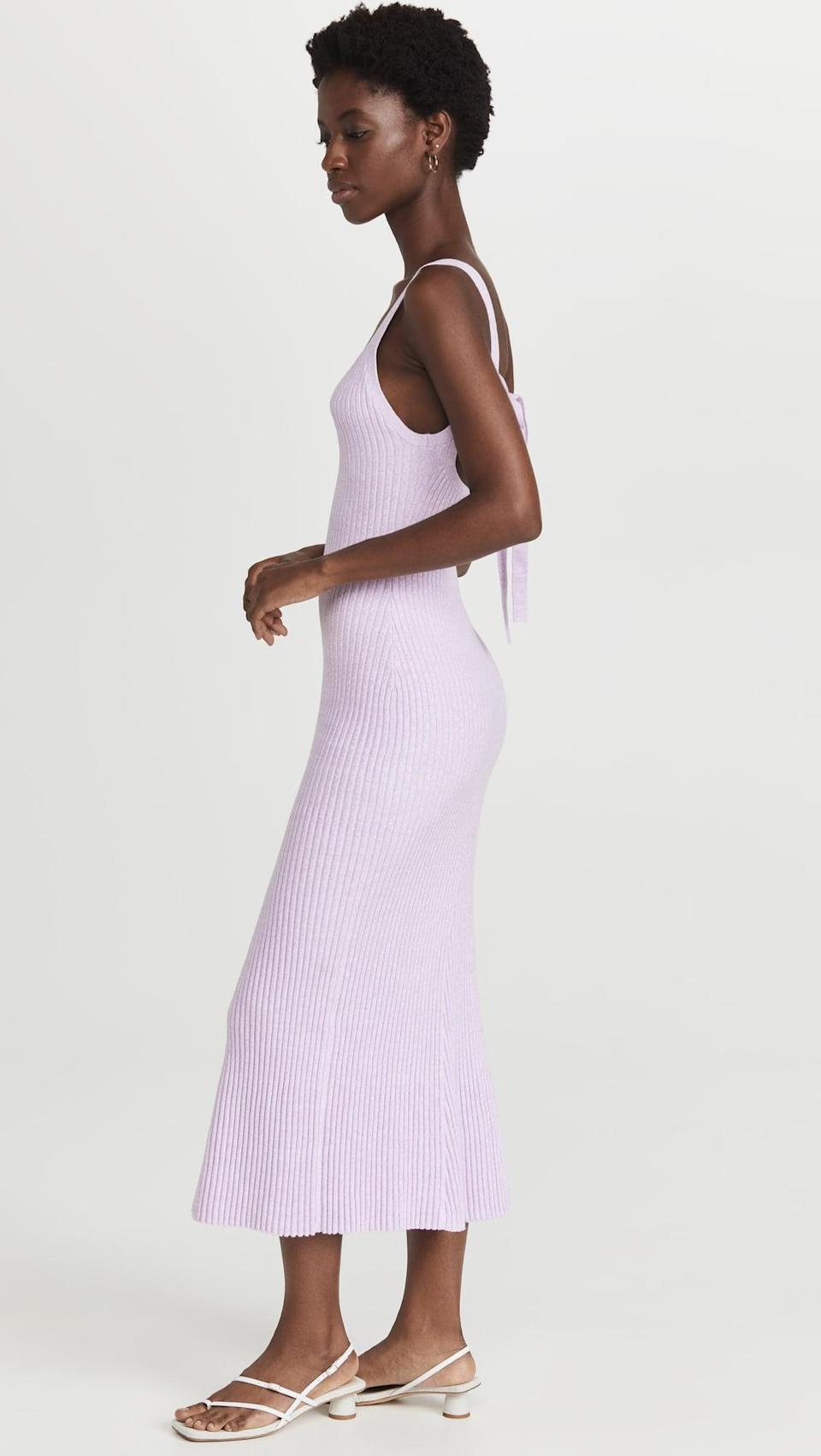<p>We're falling in love with the color of this <span>Significant Other Liv Midi Dress</span> ($218). It has a cute tie back that we're into as well.</p>