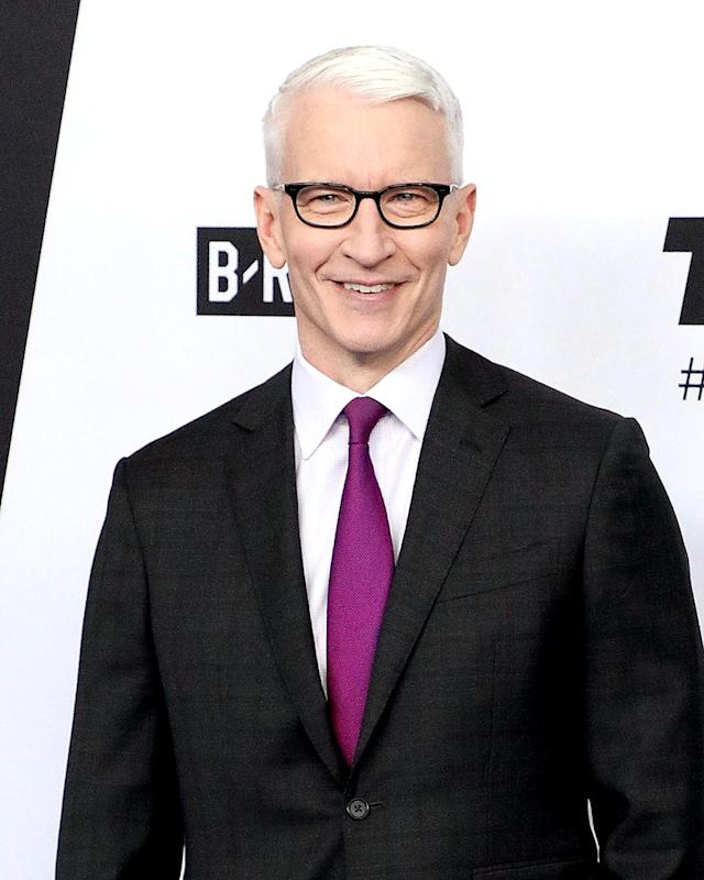 Anderson Cooper attends the 2018 Turner Upfront at One Penn Plaza on May 16, 2018, in New York City. (Photo: Taylor Hill/FilmMagic)