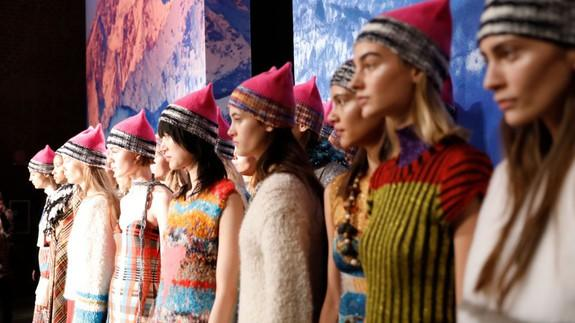 Image result for Gigi Hadid takes the pussyhat to the runway at Milan Fashion Week