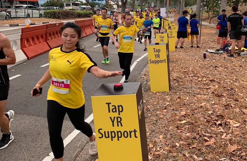 PHOTO: Participants of the Yellow Ribbon Prison Run 2019 running on 15 September 2019/Yellow Ribbon Project Singapore