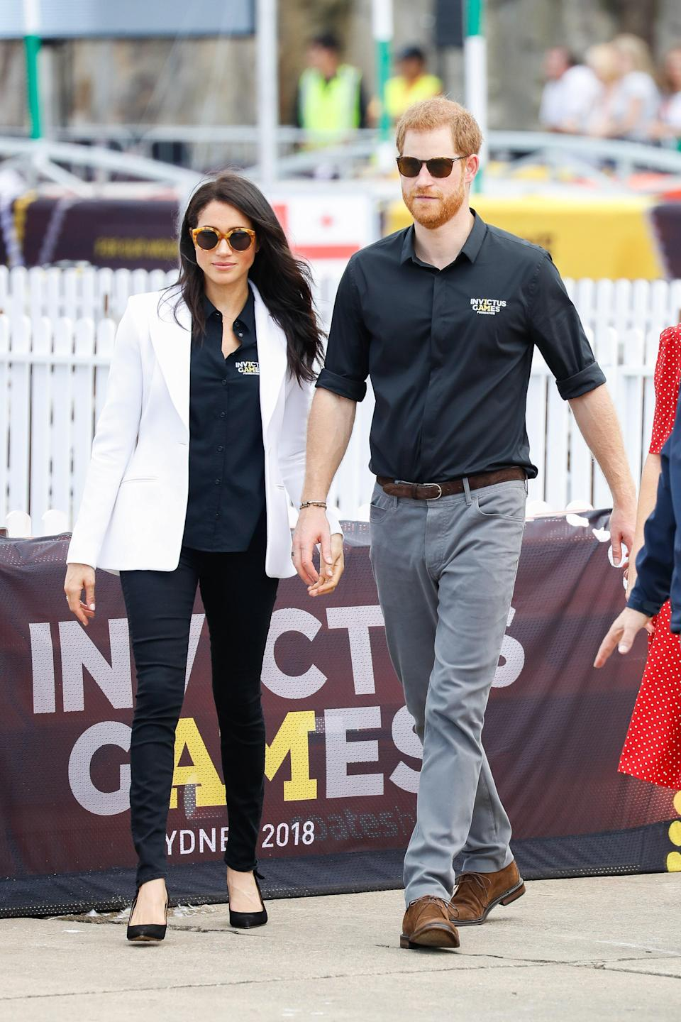 Meghan Markle wearing Mother denim at the 2018 Invictus Games in Sydney