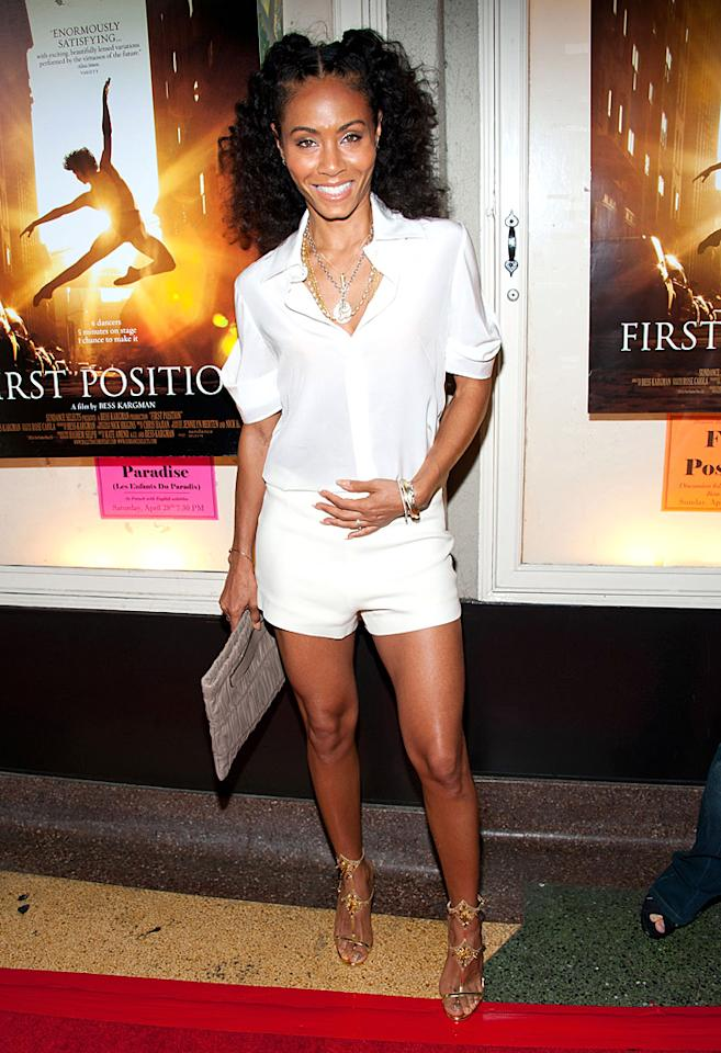 "We tend to think of Jada Pinkett Smith, 40, first and foremost as mom to pint-sized entertainers Jaden and Willow, or wife to movie star Will. However, the former ""HawthoRNe"" actress only needs to show a little leg to remind us that she's also a hottie! (4/22/2012)<br>"